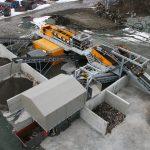 Bottom ash processing installation