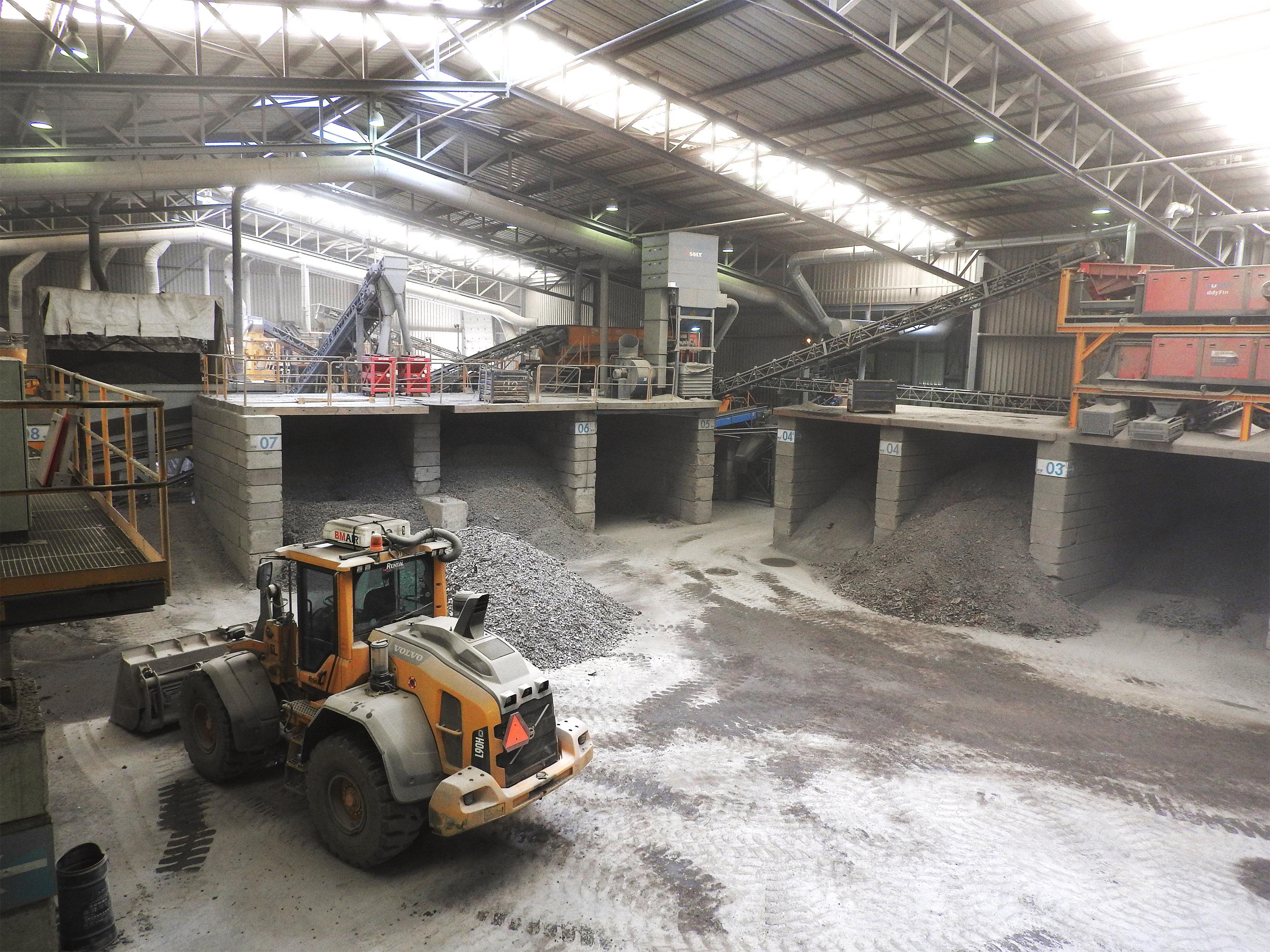 metal separation installation