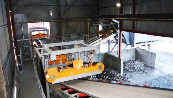 Vor-Ort-Aufbereitungsanlage für Müllschlacke